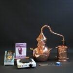 Complete moonshine alembic still set type A | Distillation Supplies